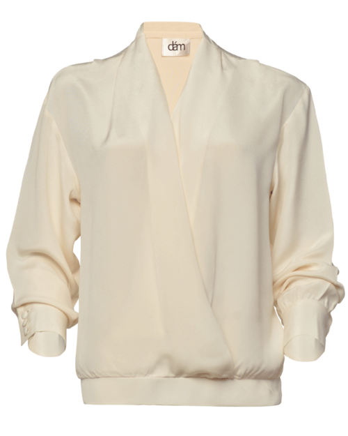silk crepe blouse for women