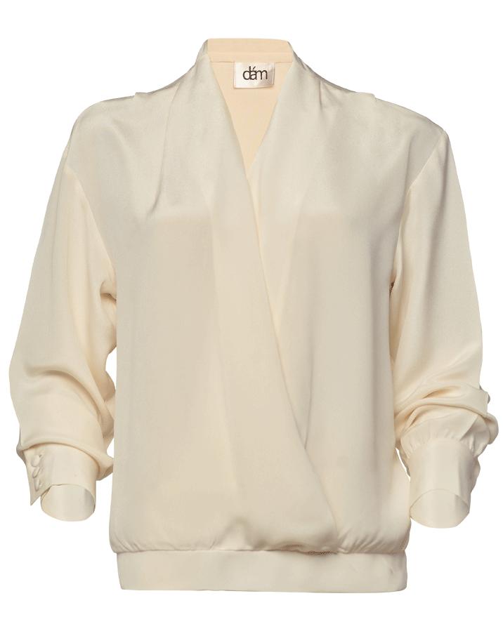 silk crepe blouse for women